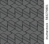 black and white pattern... | Shutterstock .eps vector #583270801