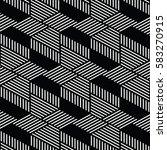 black and white pattern... | Shutterstock .eps vector #583270915
