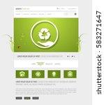 green eco website interface...