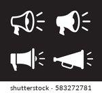 megaphones icons set | Shutterstock .eps vector #583272781