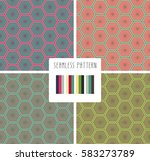 set of colorful fashion print... | Shutterstock .eps vector #583273789