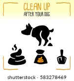 set of information dog icons.... | Shutterstock .eps vector #583278469