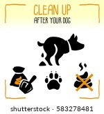 set of information dog icons.... | Shutterstock .eps vector #583278481