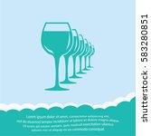 wineglasses   icon. vector...