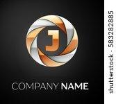 letter j vector logo symbol in... | Shutterstock .eps vector #583282885