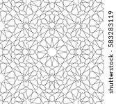 geometric interlaced pattern.... | Shutterstock .eps vector #583283119