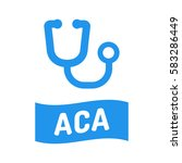 aca  affordable care act.... | Shutterstock .eps vector #583286449