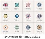 geometric logo template set.... | Shutterstock .eps vector #583286611