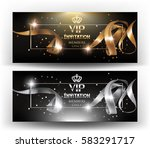 vip invitation banners with... | Shutterstock .eps vector #583291717