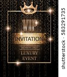 vip event invitation card with...   Shutterstock .eps vector #583291735