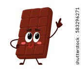 cute chocolate bar character... | Shutterstock .eps vector #583296271