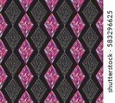 hand drawn ornament pattern.... | Shutterstock .eps vector #583296625