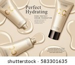 hydrating cream contained in... | Shutterstock .eps vector #583301635