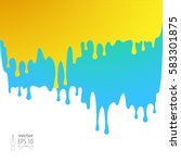 vector drips of paint on a... | Shutterstock .eps vector #583301875