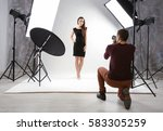 photographer working with model ... | Shutterstock . vector #583305259