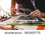 business team meeting. photo... | Shutterstock . vector #583305775