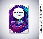 abstract brochure design with... | Shutterstock .eps vector #583306915