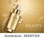 golden repair serum with... | Shutterstock .eps vector #583307329