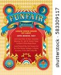 funfair vector template. circus ... | Shutterstock .eps vector #583309117