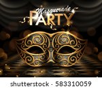 masquerade party poster ... | Shutterstock .eps vector #583310059