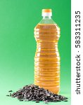 bottle of sunflower oil and... | Shutterstock . vector #583311235