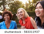 mature female friends...   Shutterstock . vector #583311937
