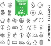 ecology colour of icons set ...   Shutterstock .eps vector #583313929