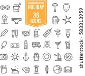 holiday summer vector icon...   Shutterstock .eps vector #583313959