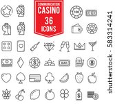 casino icon set design with... | Shutterstock .eps vector #583314241