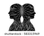 mastermind  chakra power ... | Shutterstock .eps vector #583315969