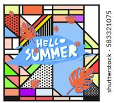 trendy vector summer cards...   Shutterstock .eps vector #583321075