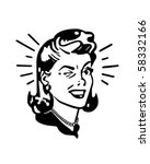 retro woman winking   retro... | Shutterstock .eps vector #58332166