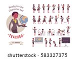 ready to use character set.... | Shutterstock .eps vector #583327375