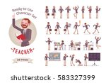 ready to use character set.... | Shutterstock .eps vector #583327399
