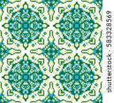 vector abstract seamless pixel... | Shutterstock .eps vector #583328569