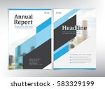 modern business cover pages ... | Shutterstock .eps vector #583329199