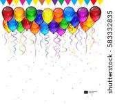 birthday party vector...   Shutterstock .eps vector #583332835