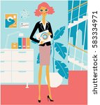 modern business style woman... | Shutterstock .eps vector #583334971