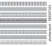 vector set of monochrome... | Shutterstock .eps vector #583337101
