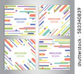 brochure covers with flat... | Shutterstock .eps vector #583340839