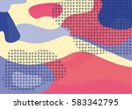 creative geometric colorful... | Shutterstock .eps vector #583342795