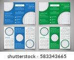 template triple folding...   Shutterstock .eps vector #583343665