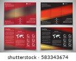 design triple folding brochure... | Shutterstock .eps vector #583343674