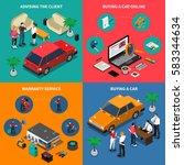 car dealership isometric... | Shutterstock .eps vector #583344634