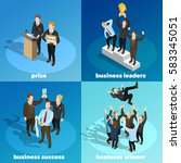 successful leading business... | Shutterstock .eps vector #583345051