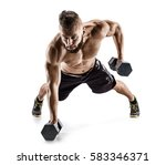 handsome man doing  exercise... | Shutterstock . vector #583346371