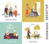 old age people in different... | Shutterstock .eps vector #583347769