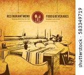restaurant menu design. vector...   Shutterstock .eps vector #583349719