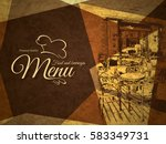 restaurant menu design. vector... | Shutterstock .eps vector #583349731
