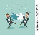 business teamwork concept. two... | Shutterstock .eps vector #583350931